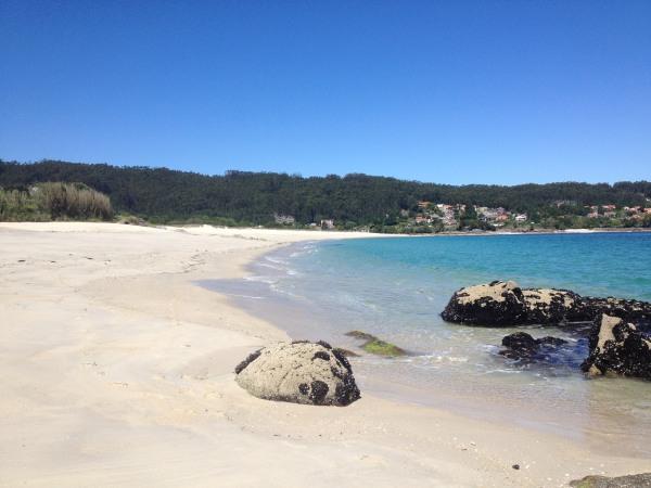beach and rocks galicia